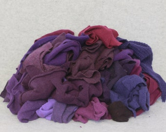 Recycled Cashmere Remnants - Purple 16oz