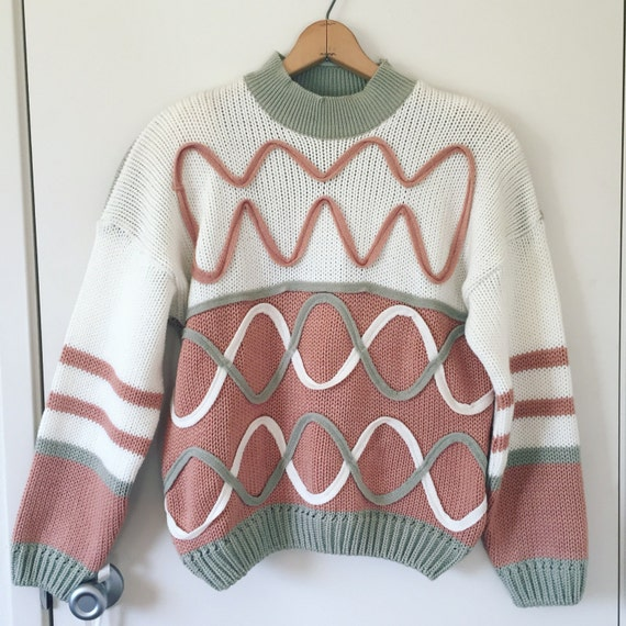 Blush and sage sweater
