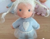 Mini Ballerina Doll Nr. 1, ice blue romper, tutu, lace crown