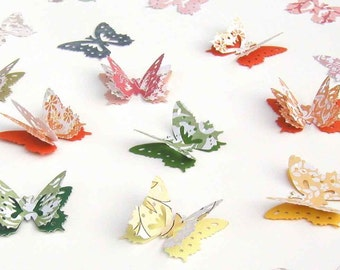 Butterfly Confetti, 3D Paper Butterflies, Garden Party Decor, Spring Wedding Accent, Bridal Shower Confetti, Baby Shower Decor
