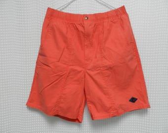 vintage Ocean Pacific OP Shorts 80s 90s surf beach skate hip hop Mens XL salmon peach color gotcha t&c casual cotton shorts summer