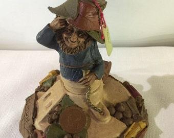 EDISON  Thomas Clark gnome figurine elf retired 1987 lightbulb electric