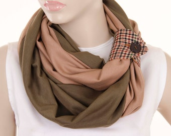 SALE Mens infinity scarf  unisex loop scarf with cuff