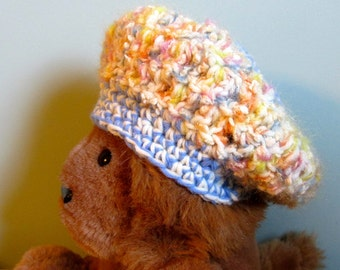 Funky Fun Unique Blue-White-Yellow Baby Hat