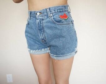 Calvin Klein High Waist Embroidered Shorts