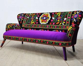 SPRING SALE 15% OFF: Suzani 3-seater sofa - purple love