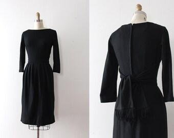 vintage 1950s Gigi Young dress // 50s black wool wiggle dress