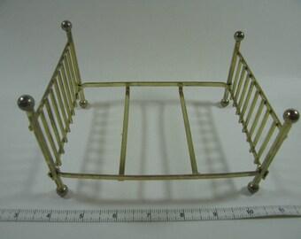 Miniature Brass Bed // 1:12