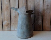 Oil Can, Antique can, Galvanized can, Vintage oil Can, Metal can, Industrial, Farmhouse, Pitcher, Container, Garden decor