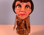 "Finger Puppet of Ethel Merman as ""Mama Rose"" in Gypsy!, by Dan Crowley"