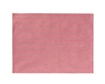 Red Hickory Stripe Placemat Set