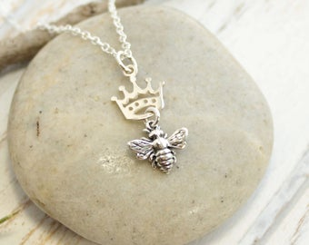 Sterling Silver Queen Bee Necklace