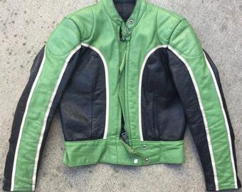 Vintage Racing Leather Jacket from Sweden Janbelle
