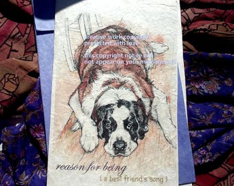 reason for being St Bernard/love my Saint/sentimental/personalize/storybook/unique empathy condolence