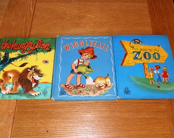Lot of 3Books:Hungry Lion/ Wiggletail/ This Way to the Zoo