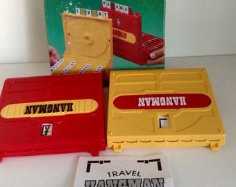1987 Vintage Milton Bradley travel hangman