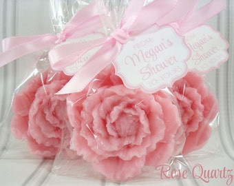 25 Peony Soap Favor, Choose Color for Weddings, Birthdays & Gifts!