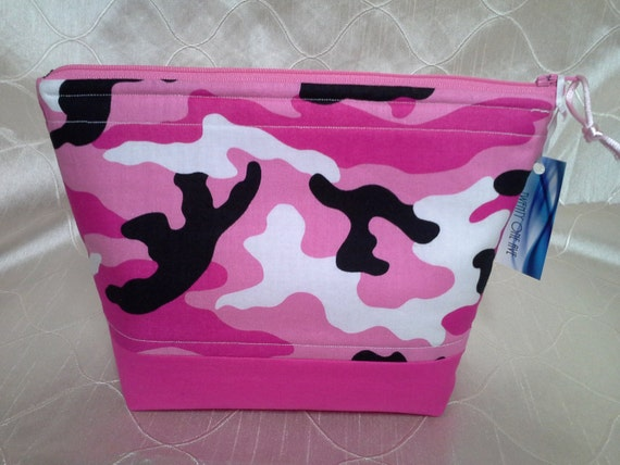 Pink Camo Essential Oil Bottle Zippered Pouch