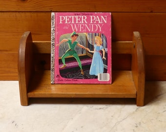 "Vintage Little Golden Book Mid Century 1950's  Walt Disney's"" Peter Pan and Wendy"""