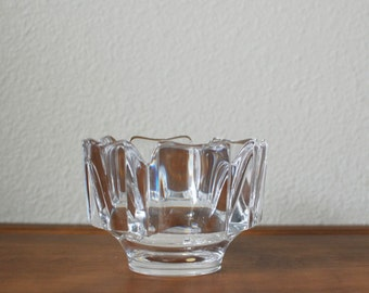 Vintage Orrefors crystal glass corona small bowl  SWEDEN