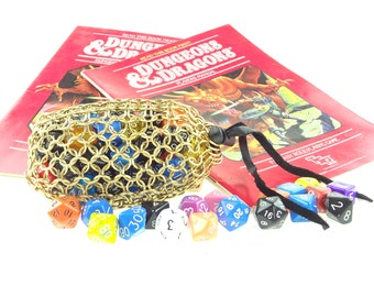 Dungeons And Dragons Heavy Brass Dice Bag - Magic The Gathering - Large Pouch - SKDB-B-L
