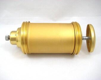 Vintage Mirro Donut Maker, Gold Tone Brushed Aluminum, Gold Aluminum Doughnut Attachment