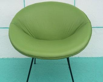 Vintage 1950s Mid Century Modern Hoop Chair
