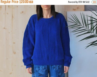 SALE Chunky blue Sweater oversized sweater VINTAGE 80's