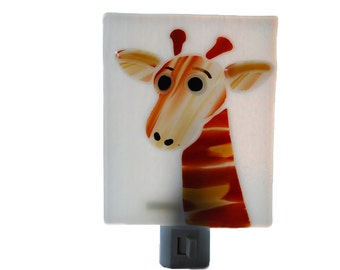 Fused Glass Night Light Giraffe
