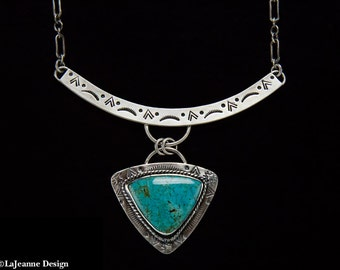Trilogy -Turquoise Sterling Silver Necklace