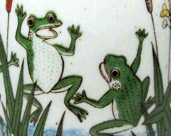 Coffee mug with frogs , no marks , I usually attribute these to Otagiri