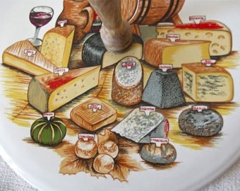 French Cheese - French vintage Platter - Cheese Platter - French Cheese Plate - French Chees Board