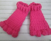 Troll feet crocheted slippers-Child size