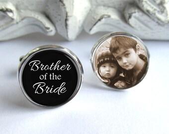 Brother of the Bride Gift, Custom Cufflinks, Wedding Cufflinks