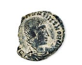 ON SALE Genuine Roman Coin Lapel Pin - Certificate of Authenticity Included - Coins - Tie Tack - Valentine's Gift - Handmade - Gift Box Incl