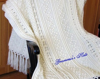 Fisherman Crochet Afghan Armagh
