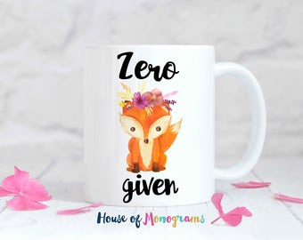 Zero Fox Given Personalized Coffee Mug - Custom Coffee Mug