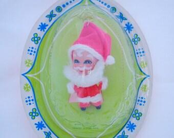 Vintage 1968 Mattel Liddle Kiddles Santa Ornament in Package
