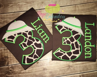 Safari Birthday Shirt, Zoo Shirt,Jungle Birthday Shirt