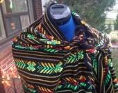 Custom Order - Reserved for Jo - Set of Two Black Aztec Rebozos - 2 Yard Long