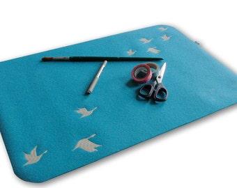 Desktop pad, Mousepad wool felt, embroidery