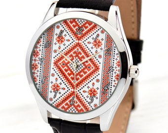 Folk Art Watch | Vyshyvanka | Gift For Her | Women Ethnic Jewelry | Ukrainian Jewelry Watch | Ukrainian National Art Watch | FREE SHIPPING