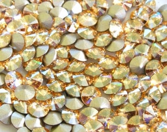 Swarovski 1088 Golden Shadow 29ss Crystal Chatons Foiled