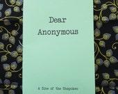 Dear Anonymous 1 - Zine of Letters