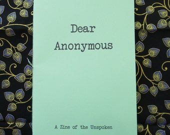 Dear Anonymous 1 - Zine of Letters