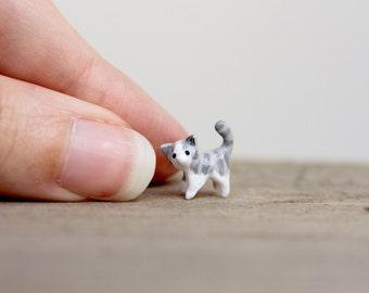 Tiny clay kitten - miniature tabby cat