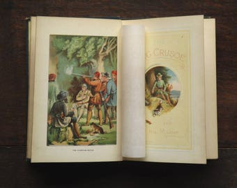 Antique book The Dog Crusoe by R. M. Ballantyne, Victorian book