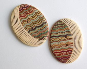 Large Oval Polymer Clay Sewing Buttons