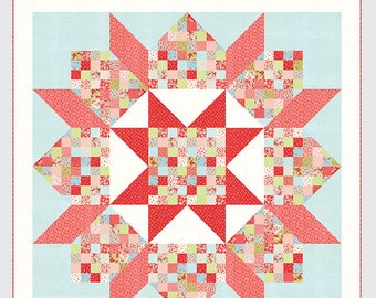 Patchwork Swoon quitl pattern by Camille Roskelley for Thimble Blossoms