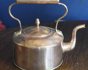 antique copper tea pot